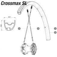 Mavic Crossmax Pro + SL Pro Ersatzteile