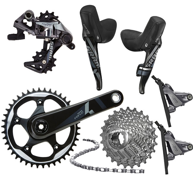 Sram Force 1 Gruppe Disc Flat Mount GXP