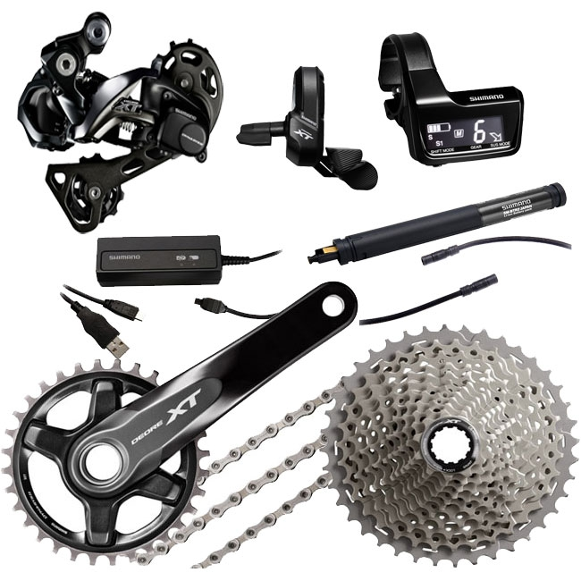 3x E-tube ports Shimano SC-MT800 Di2 system information and display junction A