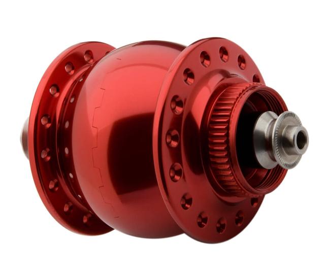 Schmidt SON 28 Nabendynamo Disc Centerlock rot eloxiert 36 Loch