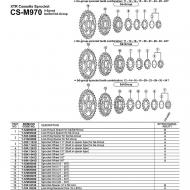 Shimano XT/XTR Ersatzritzel CSM970 Kassette Gruppe BD 14 Zaehne