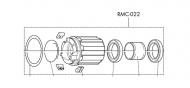 Fulcrum Freilaufkoerper RM0-022 Red Carbon - Red Metal Zero XRP HG