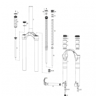 Rock Shox Domain- Lyric Staubdichtungen Kit Modell 2007 - 2014 Nr 3