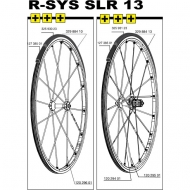 Mavic R-SYS SLR Speiche Carbon Hinterrad links Clincher 287 mm Nippel schwarz Mod 2008-14