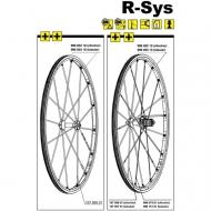 Mavic R-SYS Speiche Carbon Vorderrad 285 mm Nippel gelb Mod 2008-14