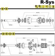 Mavic R-SYS Hinterradachse komplett mit Rahmenanschlag rechts Mod 2010