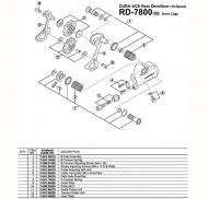 Shimano Dura Ace RD 7800 Schaltwerk - Schaltzug Einstellschraube
