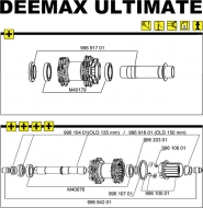Mavic DEEMAX ULTIMATE 2010 Lagersatz Hinterrad 2 Stueck Typ 6903
