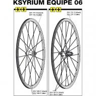 Mavic Ksyrium Equipe Ersatzspeiche Vorderrad, 284 mm schwarz, Modell 2006, Art Nr. 32418601