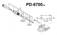 Shimano Ersatzteil Ultegra PD 6700 Pedalachse links komplett mit Lagern
