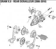 Sram X.0 Schaltwerks Schraubenset fuer Spann Leitrollen Modell 2006-7, Art Nr 11.7515.029.000