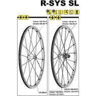Mavic R-SYS SL Ersatzspeiche Carbon Hinterrrad links Tubular 287 mm Nippel silber