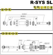Mavic R-SYS SL Vorderradachse komplett mit Rahmenanschlaegen