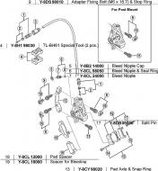 Shimano Belaghalteschraube ohne Splint BR M775 - M765