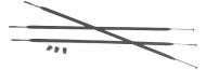 Sram S27 Ersatzspeiche, schwarz, 266 mm hinten rechts, 3 Stueck mit Nippeln