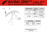 Fulcrum Racing Zero 2 Way Fit Speiche VR-HR rechts 279,2 mm rot