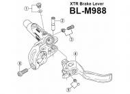 Shimano XTR Hebel Achse fuer Bremsgriff BLM988