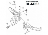 Shimano XTR Ersatz Bremshebel fuer Bremsgriff BLM988