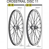 Mavic Crosstrail Speiche Hinterrad rechts 265 mm Mod 2011-12