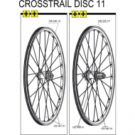 Mavic Crosstrail Speiche Hinterrad links 267,5 mm Mod 2011-12