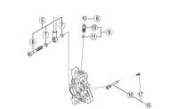 Shimano Bremsbelaghalteschraube und Ring - BRM785