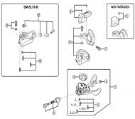 Shimano XT SLM780 Ersatzklemme + Abdeckung fuer ohne Ganganzeige rechts Nr 6