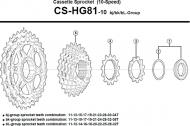 Shimano SLX Ritzeleinheit HG81-10 10 fach 25-28-32 Zaehne Gruppe Bl