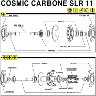 Mavic Cosmic Carbone SLR Lagerabdeckung Vorderrad-Hinterrad links 1 Stueck Modell 2011 ausverkauft