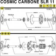 Mavic Cosmic Carbone SLR Lagerabdeckung Hinterrad rechts 1 Stueck Modell 2011