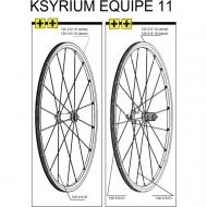 Mavic Ksyrium Equipe Speiche Hinterrad rechts 301 mm schwarz Mod 2011