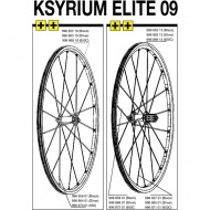 Mavic Ksyrium Elite Speiche Hinterrad rechts 276 mm silber Modell 2009-10