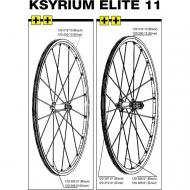 Mavic Ksyrium Elite Speiche Hinterrad links 301 mm schwarz Modell 2011-12
