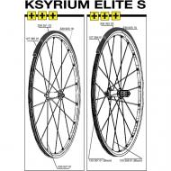Mavic Ksyrium Elite S Speiche Hinterrad links 301 mm schwarz Modell 2013