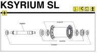 Mavic Ksyrium SL Lagerabdeckung Vorderrad
