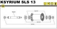 Mavic Ksyrium SLS Vorderrad Lagerabdeckung