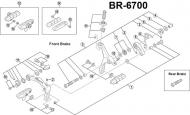 Shimano Ultegra BR-6700 Ersatzteil Zugeinstellschraube