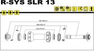 Mavic R-SYS SLR Vorderradachse komplett mit Rahmenanschlaegen