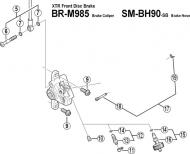 Shimano XTR BRM985 Bremsbelag Haltestift mit Sicherungsring