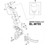 Shimano XT BLM785 Ersatzteil - Gehaeusedeckel links