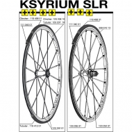 Mavic Ksyrium SLR Speiche Carbon Hinterrad links 287 mm Mod 2011
