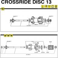 Mavic Crossride Disc Vorderrad Achse mit Verschraubungen Modell 2013