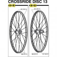 Mavic Crossride Disc Speiche Hinterrad rechts 261 mm 26 Zoll Modell 2013