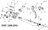 Avid Code Bremshebel Verstellschraube Modell 2008-10