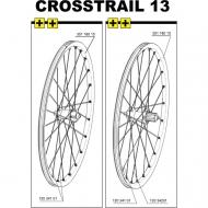 Mavic Crosstrail Speiche Hinterrad links 267,5 mm Mod 2013-14