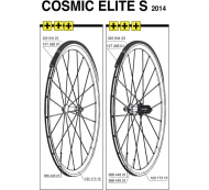 Mavic Cosmic Elite S Ersatzspeiche VR - HR 285 mm 2011-14