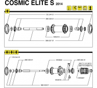 Mavic Cosmic Elite Vorderrad Nabenkappe 1 Stueck Modell 2011-2014