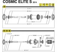 Mavic Cosmic Elite Vorderrad Achs Kit