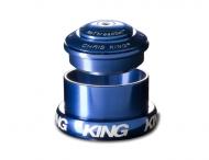 Chris King InSet i3 Steuersatz Mixed Tapered ZS44-EC49 blau