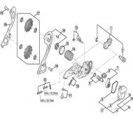 Shimano XT Schaltwerk RD-M786 Ersatzteil Schaltachsen-Einheit