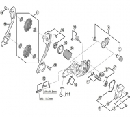 Shimano XT Schaltwerk RD-M786 Ersatzteil Stabilisator-Dichtung